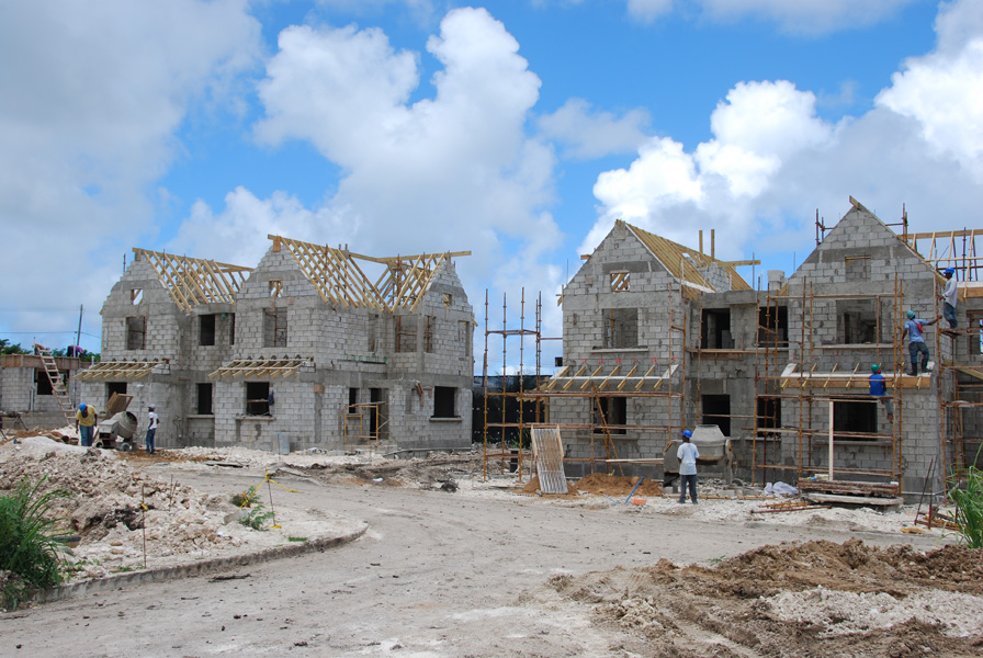 South View townhouses construction - July 2011